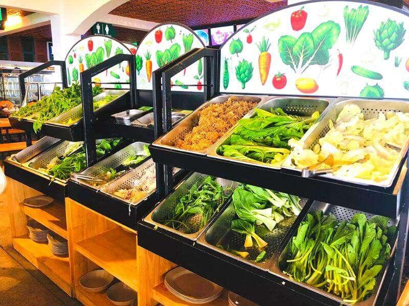 Tất cả các loại rau tại nhà hàng Leguda - Nhà hàng view đẹp nhất Đà Lạt